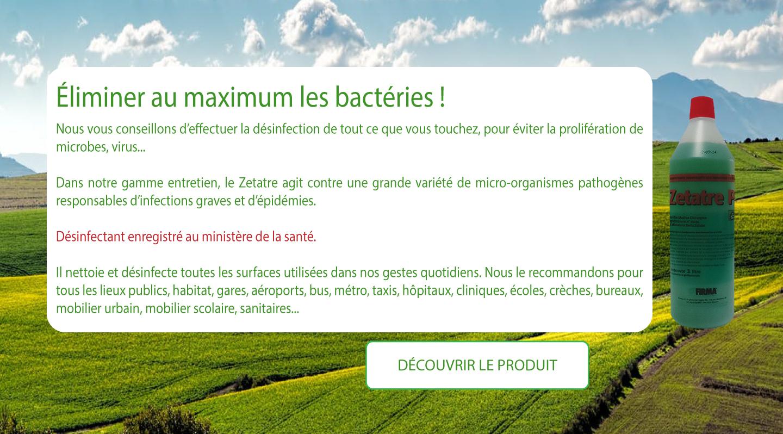 Slide éliminer les bactéries
